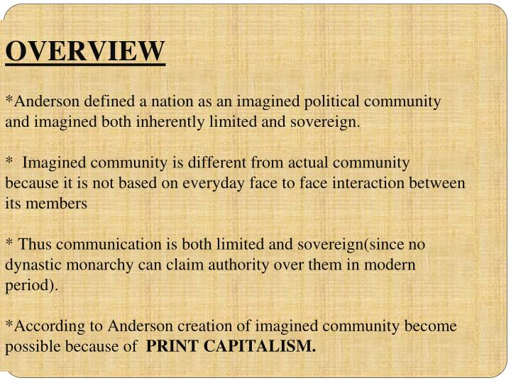 imagined communities summary