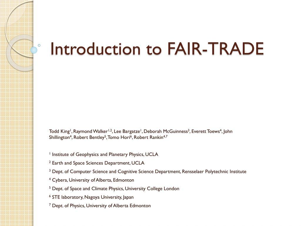 Master thesis fair trade