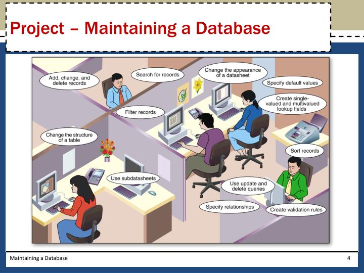Project – Maintaining a Database