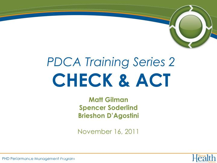 pdca training series 2 check act n.