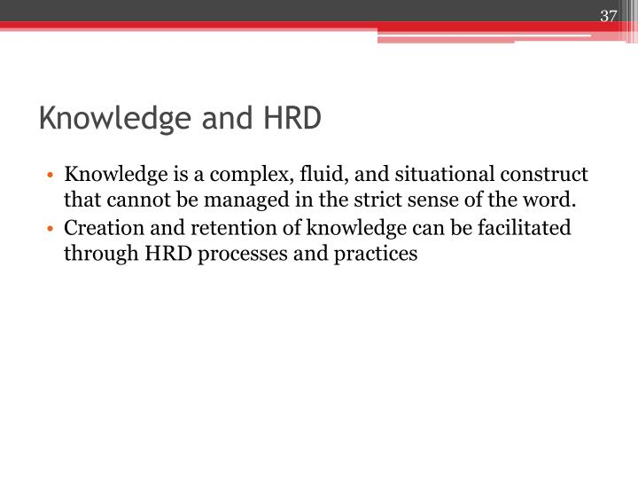 Knowledge and HRD