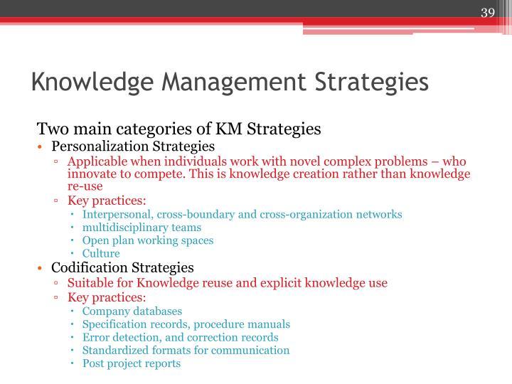 Knowledge Management Strategies