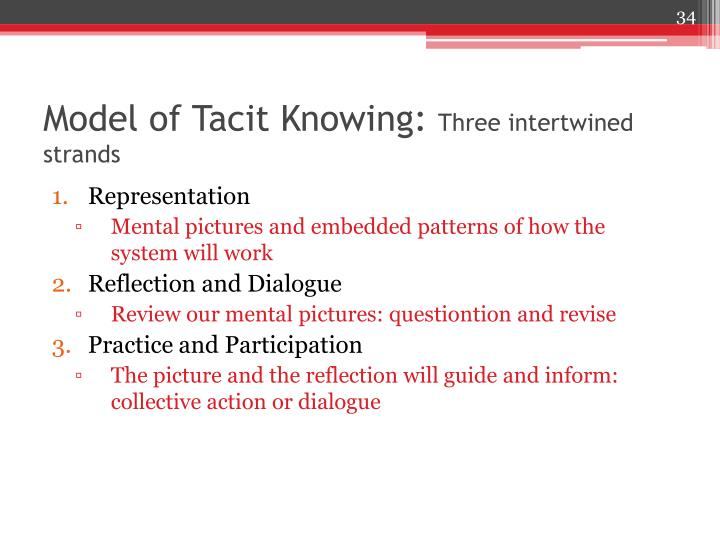 Model of Tacit Knowing: