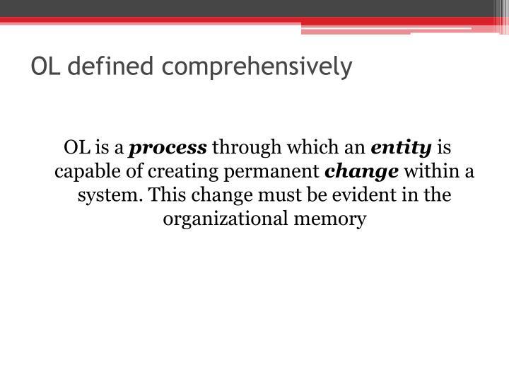 OL defined comprehensively