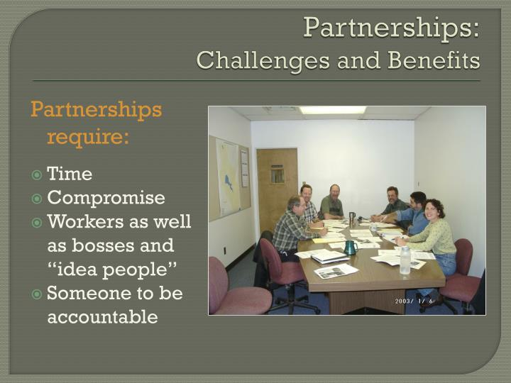 Partnerships challenges and benefits