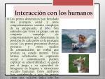 interacci n con los humanos