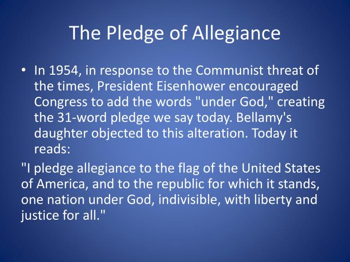 Pledge Of Allegiance Argumentative Essay Term Paper Service