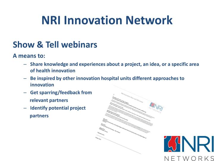 NRI Innovation Network