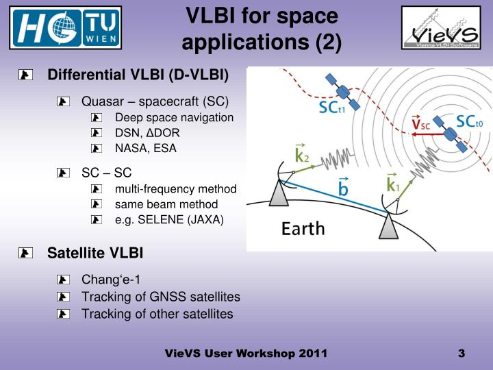 Vlbi for space applications 2