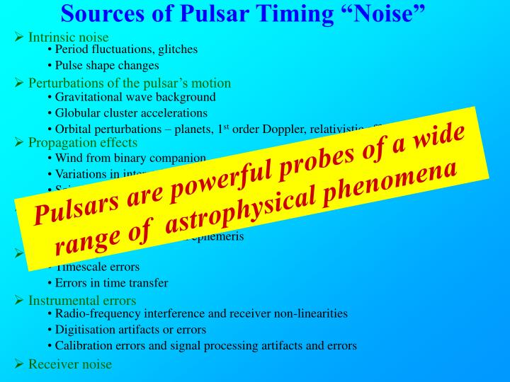"Sources of Pulsar Timing ""Noise"""
