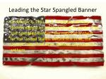 leading the star spangled banner