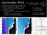 ageostrophic wind