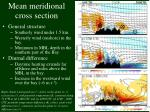 mean meridional cross section