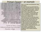 primary source an example