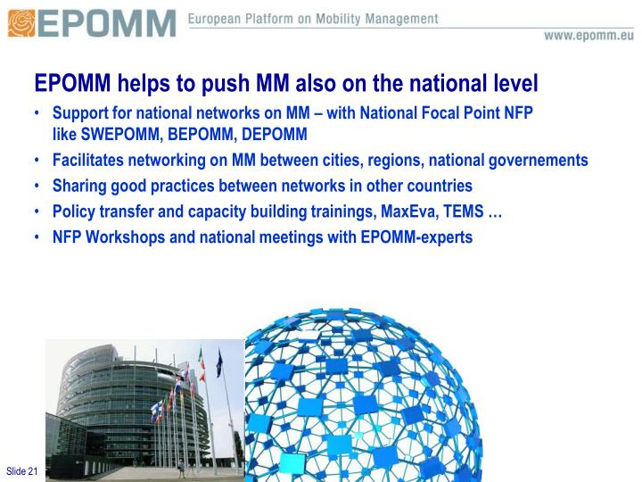 EPOMM helps to push MM also on the national level