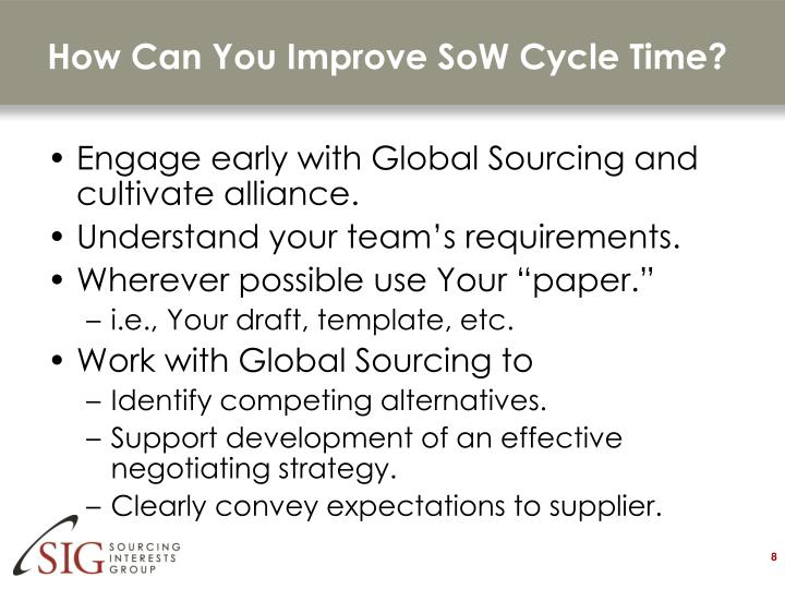 How Can You Improve SoW Cycle Time?