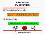 changes in matter1
