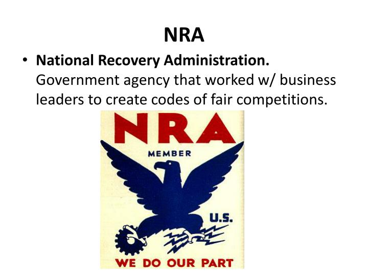 what is national recovery agency