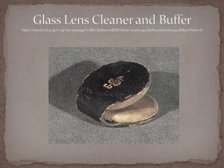 Glass Lens Cleaner and Buffer