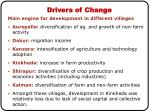 drivers of change1