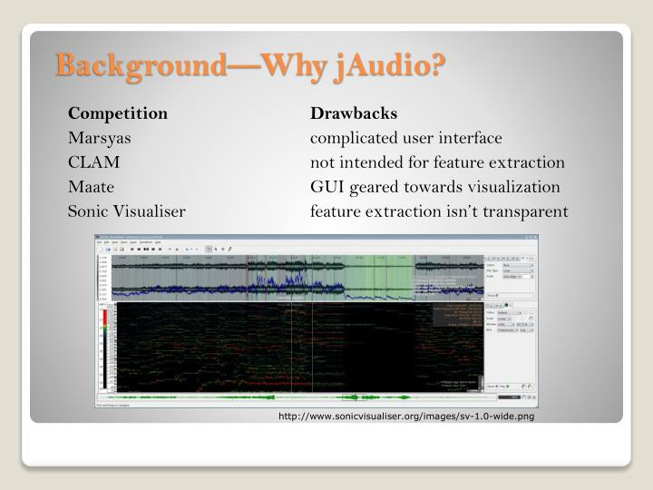 PPT - jAudio PowerPoint Presentation - ID:2527354