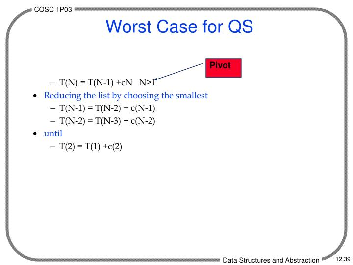 Worst Case for QS