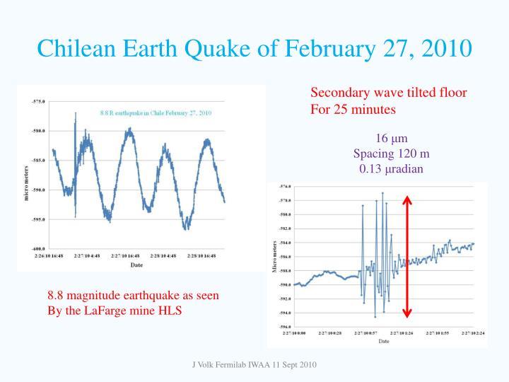 Chilean Earth Quake of February 27, 2010