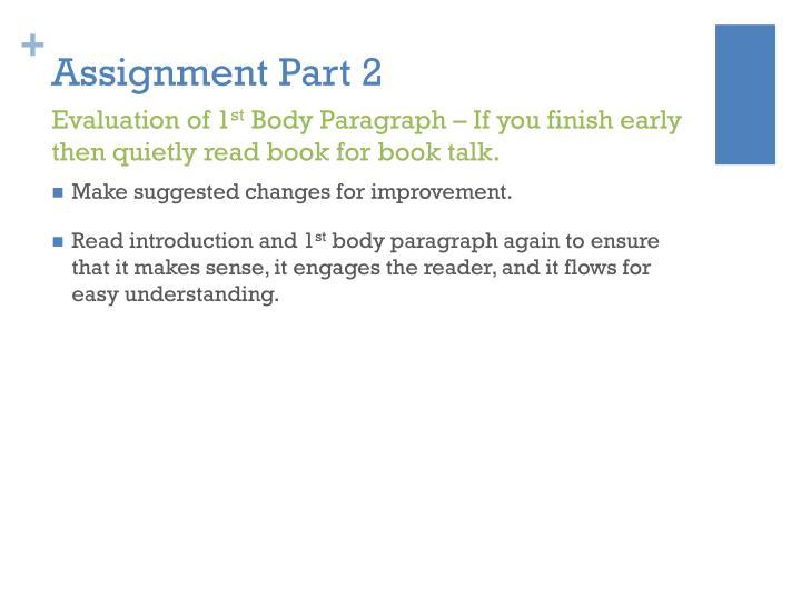 Assignment Part 2