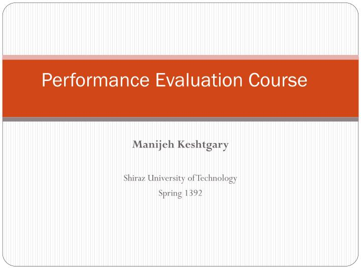 performance evaluation course n.