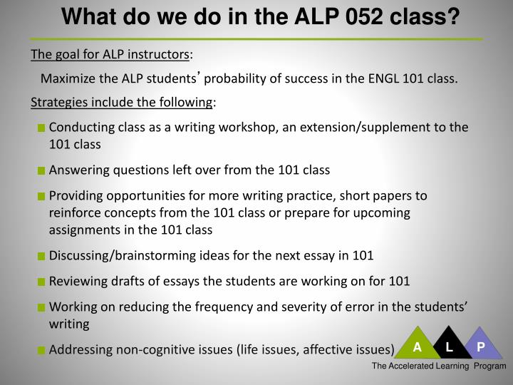 eom draft essay Including, but not limited to, the academic essay slo 5— students will apply appropriate research methodologies to understand and/or illuminate specific questions about language and literature.