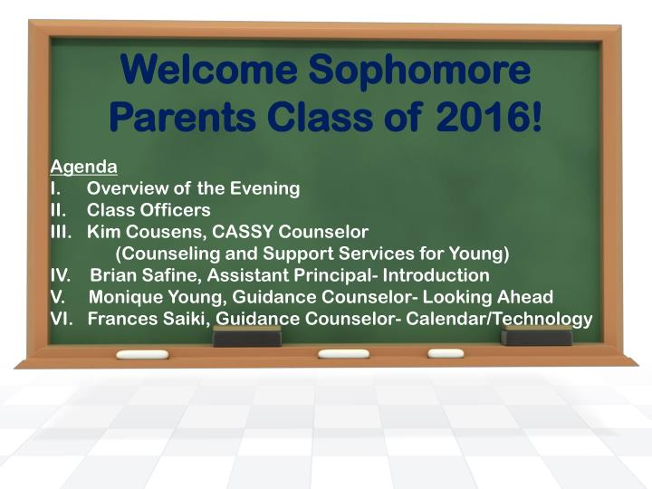 welcome sophomore parents class of 2016