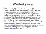 weathering song