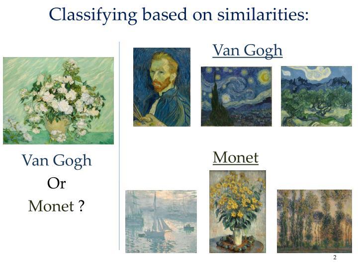 Classifying based on similarities