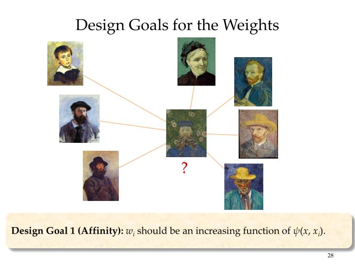 Design Goals for the Weights