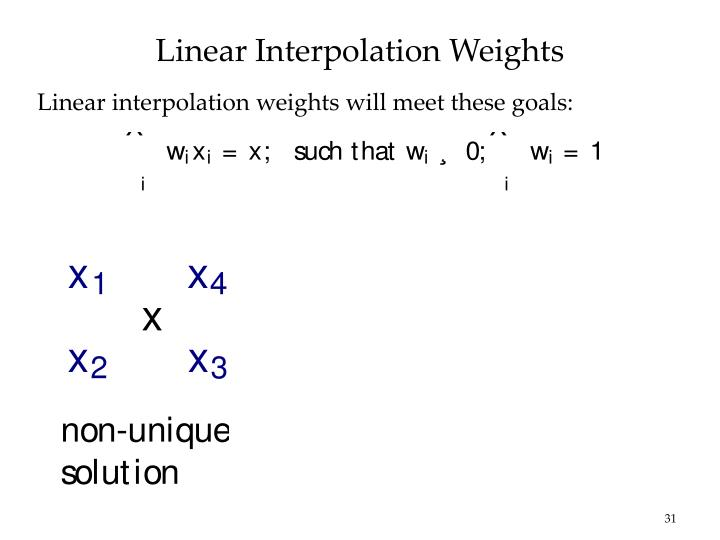 Linear Interpolation Weights