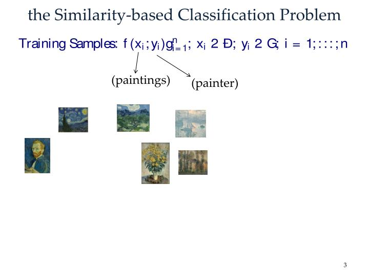 The similarity based classification problem