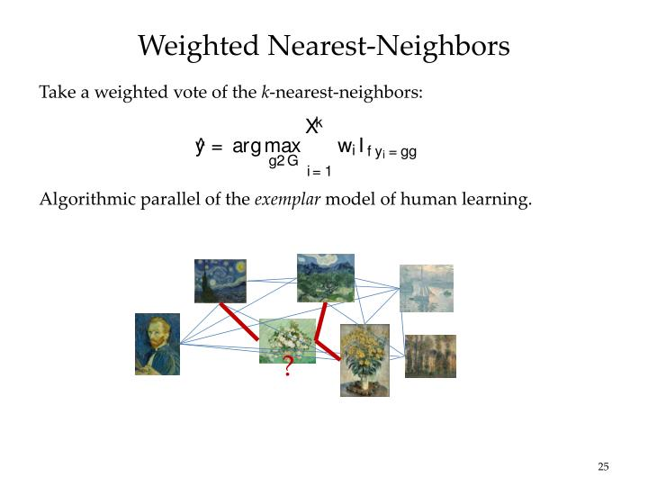 Weighted Nearest-Neighbors