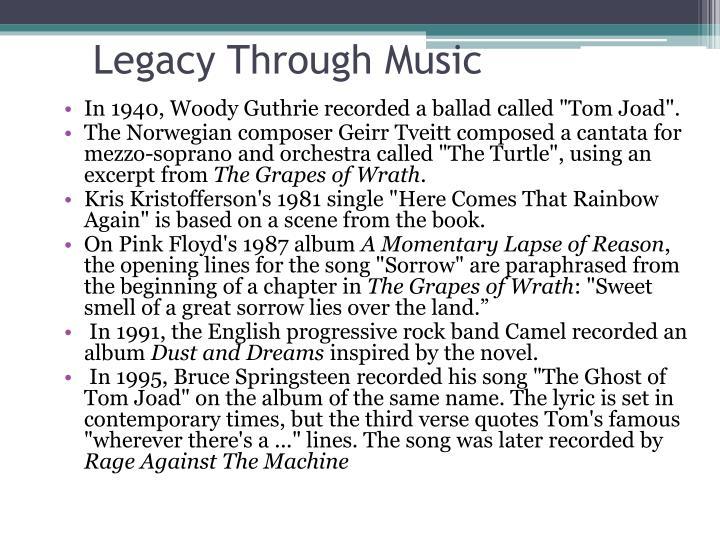 Legacy Through Music