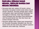 pancasila sebagai dasar negara ideologi bangsa dan negara indonesia