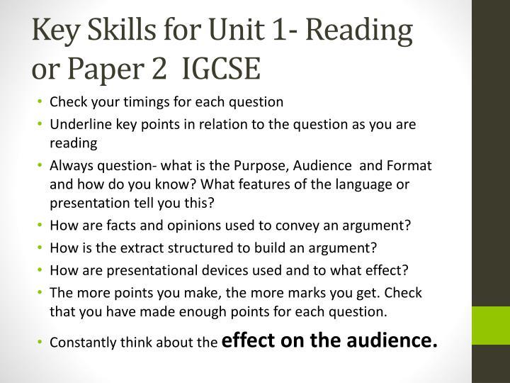 unit 1 reading essay