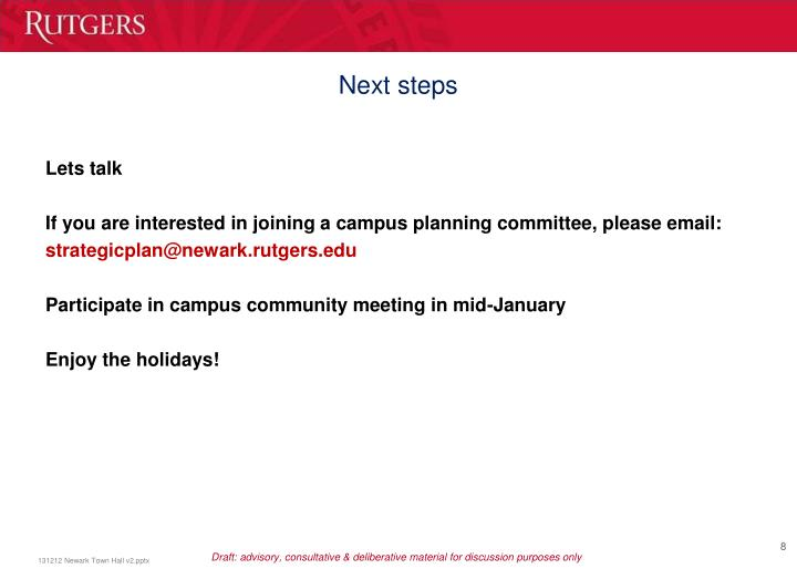 Assumes strategic planning email is set up