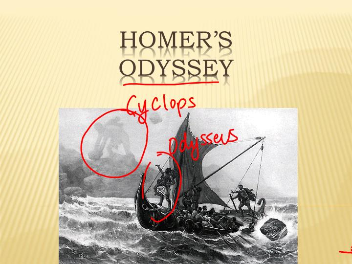 odysseus a self centered character in homers odyssey