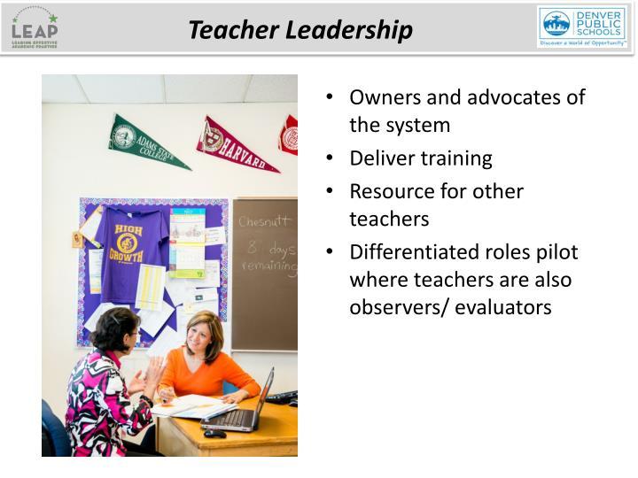 teachers are leaders
