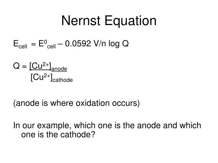 Nernst Equation