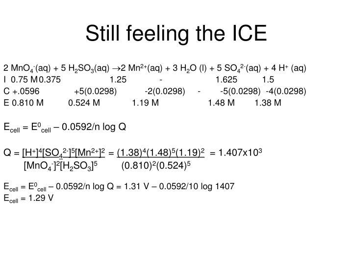 Still feeling the ICE
