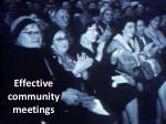 effective community meetings