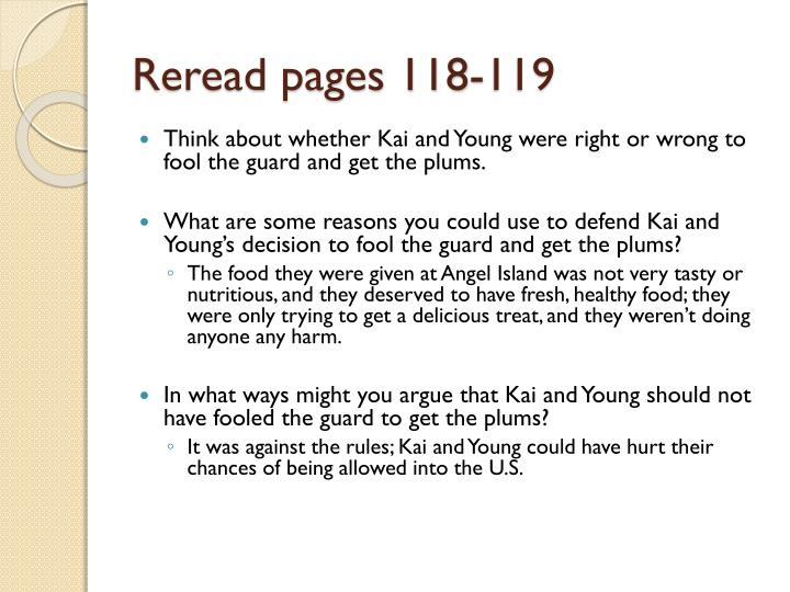 Reread pages 118-119