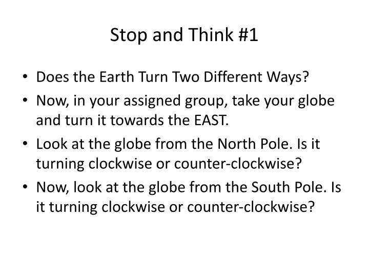 Stop and Think #1