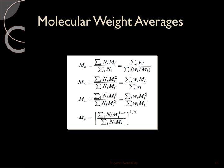 Molecular Weight Averages