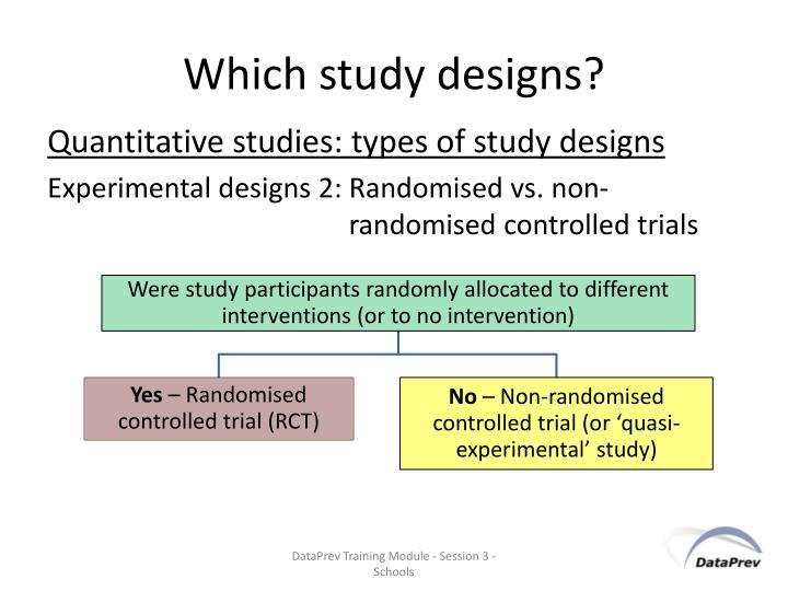 Which study designs?